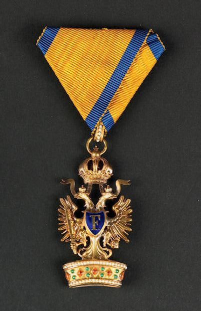Enamelled gold medal of the Imperial Order...