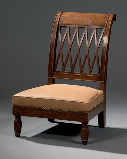 Mahogany and mahogany veneer chair, called...