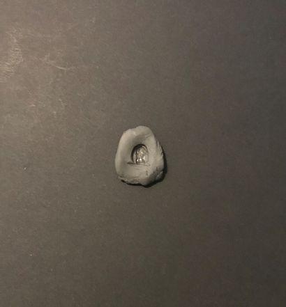 Camée à deux couches gravé d'un buste féminin de profil à gauche de type Helmfrisur....