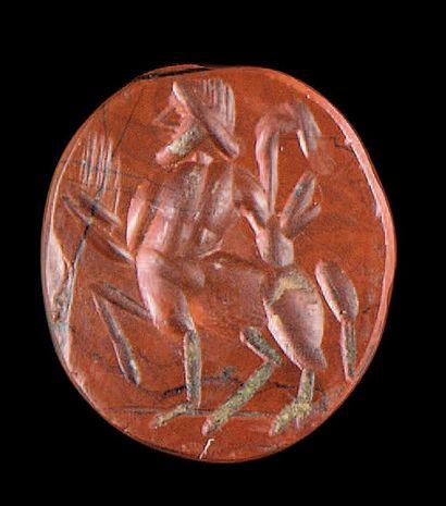 Intaille ovale plate gravée d'un centaure...