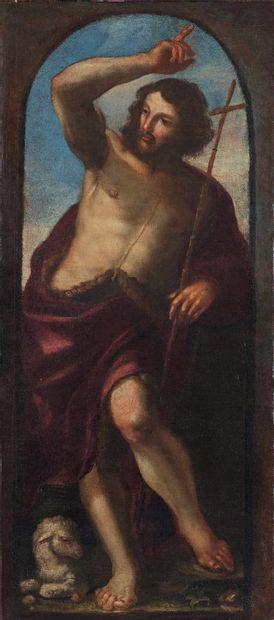 Attribué à Pablo de CESPEDES (1538-1608) Saint Jean Baptiste Toile. 82 x 36,5 cm...