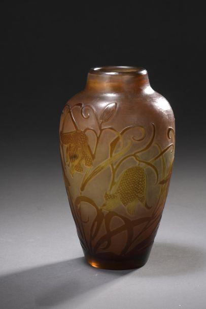 ÉTABLISSEMENTS GALLÉ (1904-1936)  Vase ovoïde...