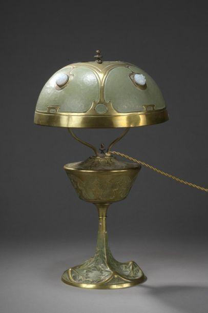 Georges LELEU (1883-1961)  Lampe de table...