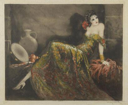 Louis ICART (1888-1950)  Gay Señorita, 1939...