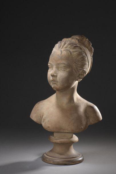 D'après HOUDON (1741-1828)  Mademoiselle...
