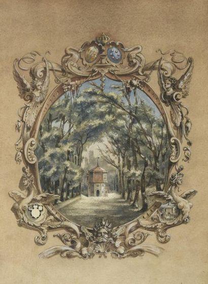 J. SIMON (actif au XXe siècle)  Projet décoratif,...