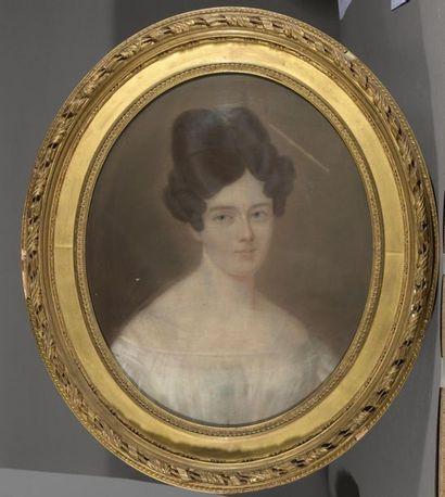 École FRANÇAISE du XIXe siècle  Jeune femme...