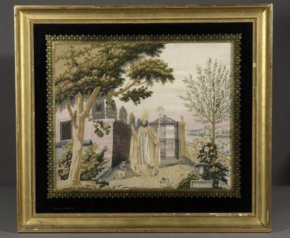 Saint Claude  Peinture à l'aiguille, marie-louise...