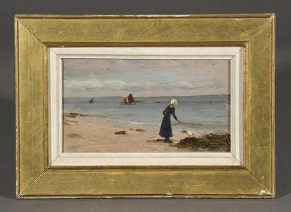 Albert LYNCH (1851-1912)  Bretonne sur la...