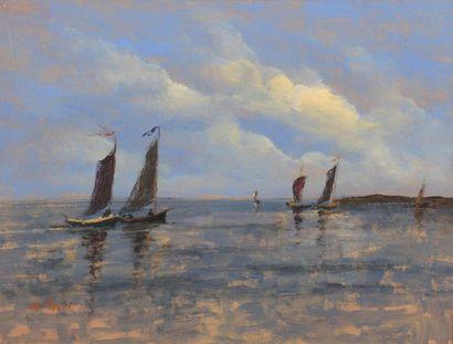 Henri SAINT CLAIR (1899-1990)  Les voiliers...