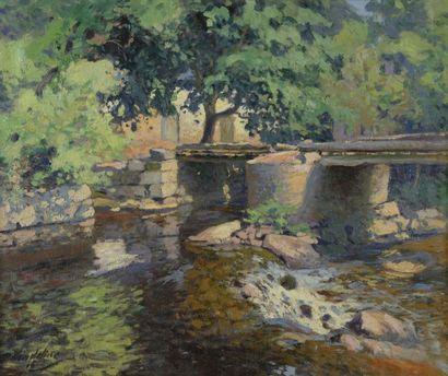 Paul MADELINE (Paris 1863-1920)  Le pont...