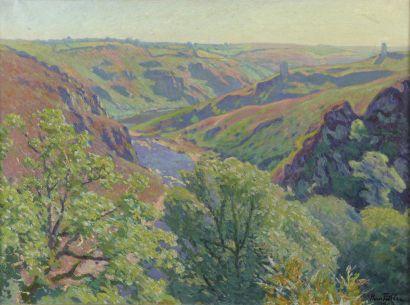 Henri PAILLER (1876-1954)  La Creuse le matin...
