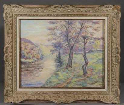 Armand GUILLAUMIN (1841-1927)  Paysage de...