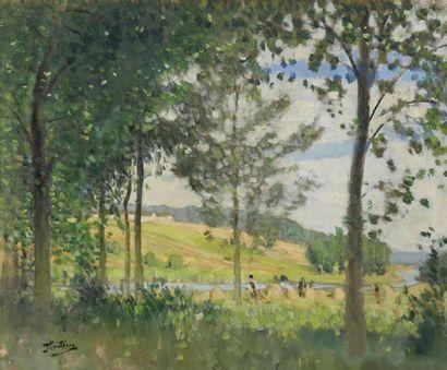 Pierre-Eugène MONTÉZIN (1874-1946)  Moissonneurs...