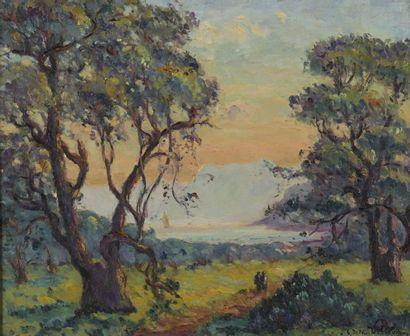 Emmanuel DE LA VILLÉON (1858-1944)  Été d'azur...