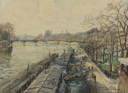 Georges ROSE (1895-1951)  Les quais et les...