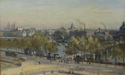 Paul SAIN (1853-1908)  Vue de Paris avec...
