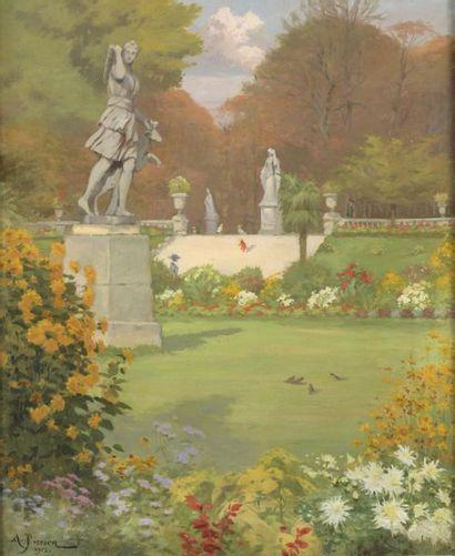 Alden PIERSON (1874-1921)  Paris, le jardin...