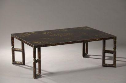CHINE - XIXe siècle  Table basse en bois...