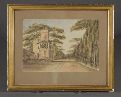 École ANGLAISE du début du XIXe siècle  Villa...