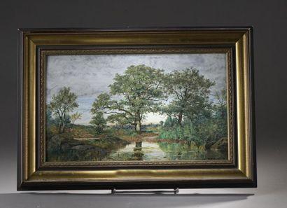 Michel BOUQUET (1807-1890)  Paysage  Terre...