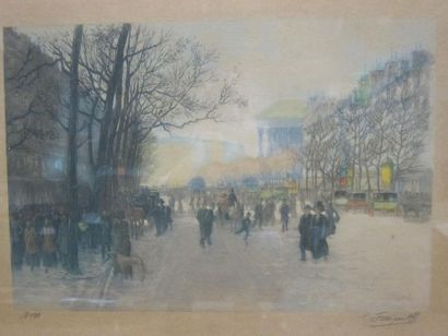 Gustave FRAIPONT (1849-1923)  Boulevard de...