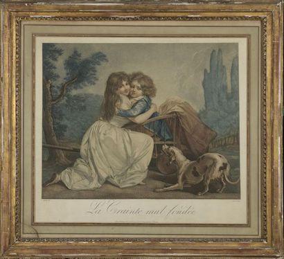 D'après BOILLY (1761-1845)  La crainte mal...