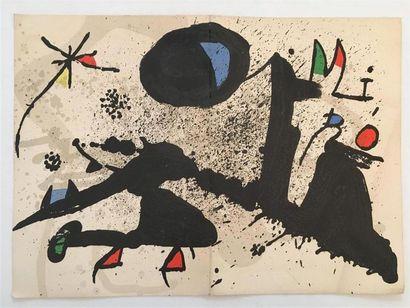 D'après MIRO (1893-1983)  Composition, invitation...