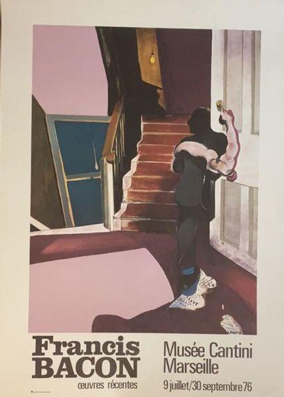 D'après Francis BACON (1909-1992)  Deux Affiches...