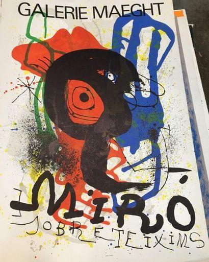 D'après MIRO (1893 - 1983)  Galerie Maeght...
