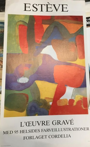 Estève, l'oeuvre gravée 1963  Lithographie...