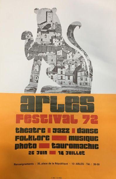 Arles festival 72  2 exemplaires de la même...