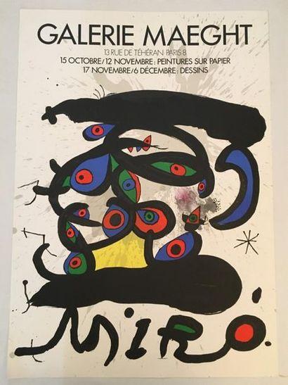 D'après MIRO (1893-1983)  Exposition Galerie...
