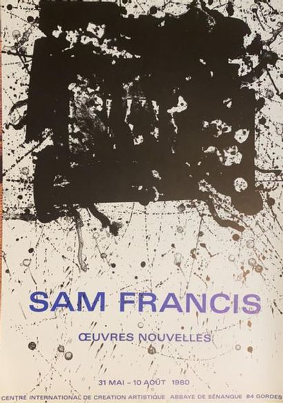 D'après Sam FRANCIS (1923-1994)  Réunion...