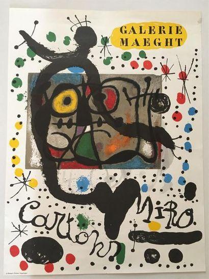 D'après MIRO (1893-1983)  Affiche Galerie...