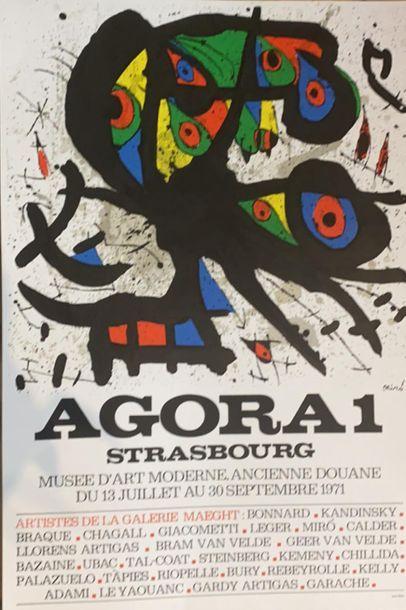 D'après MIRO (1893-1983)  Agora, Strasbourg...