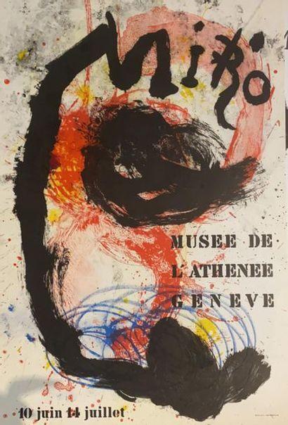 D'après MIRO (1893-1983)  Musée de l'Athénée...