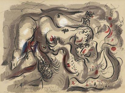 André MASSON (1896-1987)  Dessins érotiques....