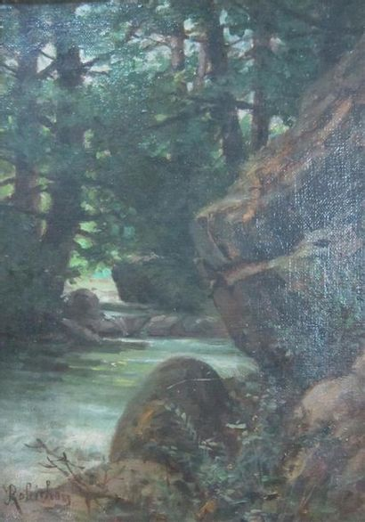 Jules Paul Victor ROBICHON (1839-1910)  Rivière...