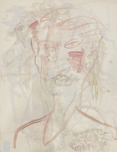 COJAN Aurel (1914-2005),  Portrait d'homme...