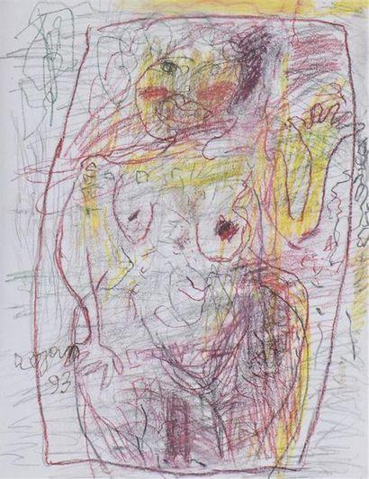 COJAN Aurel (1914-2055),  Femme nue dans...