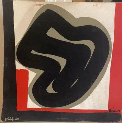 Ladislas KIJNO (1921-2012)  Composition abstraite...
