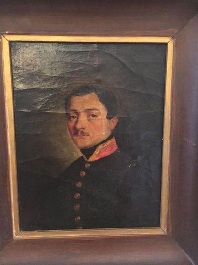 Ecole Française vers 1840  Portrait de militaire...