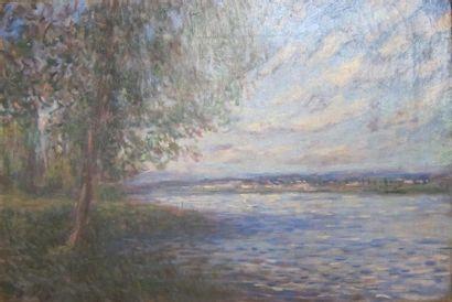 d'après Alfred SYSLEY Paysage Huile sur toile,...