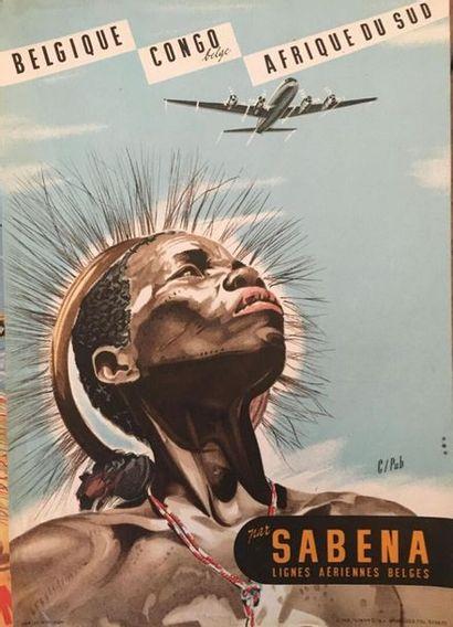 Trois affiches publicitaires SABENA