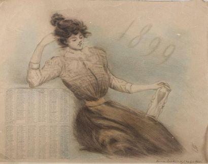 Henri BOUTET (1851-1919)  [Calendrier]. 1899....
