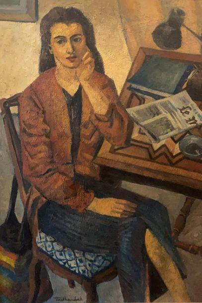 Vincent TAILHARDAT (1970)  L'Etudiante  Huile...