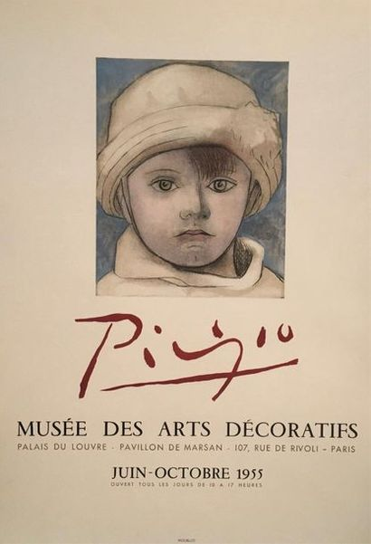D'après PICASSO (1881-1973)  Exposition Musée...