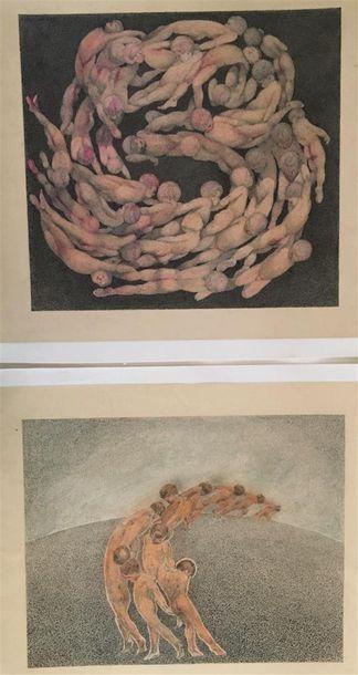 BILECK  Gonzales  5 lithographies en couleurs,...