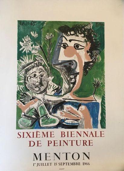D'après PICASSO (1881-1973)  La 6eme biennale...